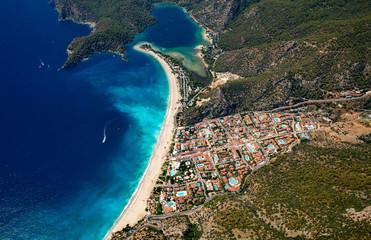 Aerial view of Oludeniz, Turkey