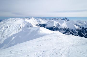 view on Tatra mountains during winter, Zakopane, Poland