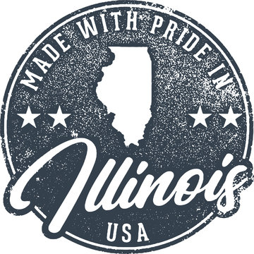 Made in Illinois State Packaging Label