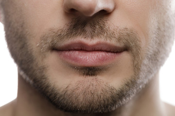 Close-up of male chin