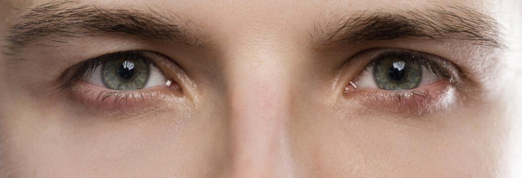 Closeup of male eyes