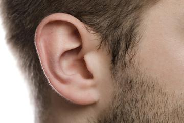 Closeup of male ear