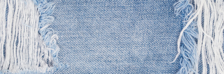 Denim blue jeans fabric banner background