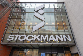 RIGA - OCT 08: STOCKMANN front view shopping center in Riga on October 08. 2018 in Latvia