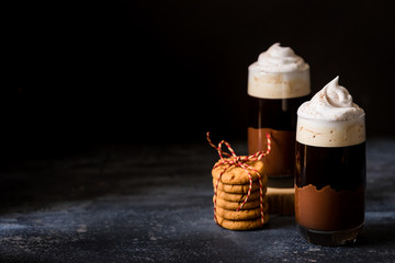 Layered Coffee Drink
