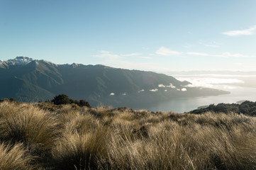 Aussicht auf Fjord; Te Anau, Neuseeland