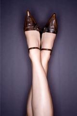 Photo mode beauté jambe et chaussure luxe