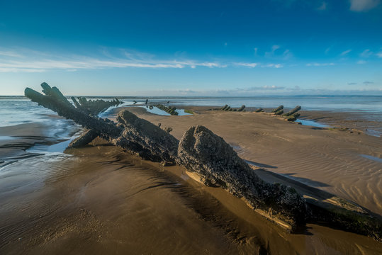 Portuguese Man-of-war Ship wreck Cefn Sidan Beach