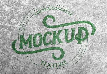 Grunge Concrete Texture Mockup