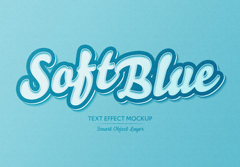 Soft Blue text Effect with Dots