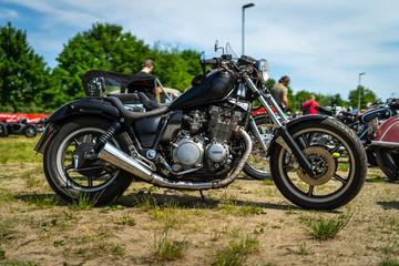 PAAREN IM GLIEN, GERMANY - MAY 19, 2018: Motorcycle Yamaha XVS650 Drag Star.