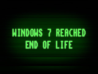 Windows 7 end of life illustration background