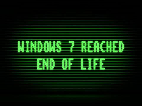 Windows 7 end of life illustration background