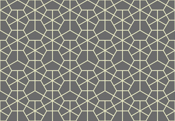 Fotorolgordijn Geometrisch The geometric pattern with lines. Seamless vector background. Grey texture. Graphic modern pattern. Simple lattice graphic design