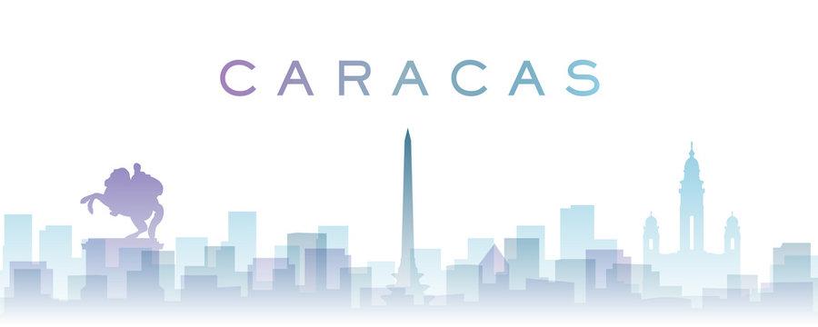 Caracas Transparent Layers Gradient Landmarks Skyline