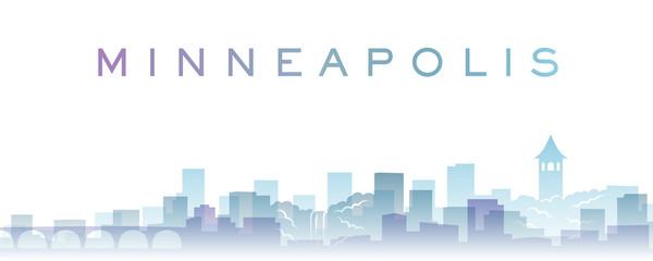 Minneapolis Transparent Layers Gradient Landmarks Skyline