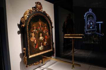 "Picture Puzzle of Christian V, King of Denmark and Norway during press preview of ""Making Marvels, Science and Splendor at the Courts of Europe"" at Metropolitan Museum of Art in New York"