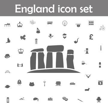Stonehenge stones icon. England icons universal set for web and mobile