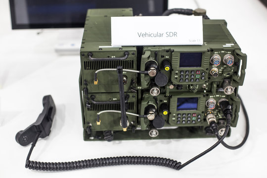 Military vehicular walkie talkie.  Communication equipment