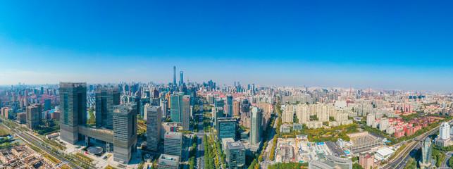 Türaufkleber Shanghai City Skyline of Pudong New Area, Shanghai, China