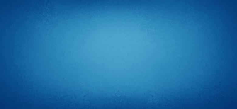 Bright pretty blue background with smooth blurred soft texture border, elegant blue paper with dark vintage vignette