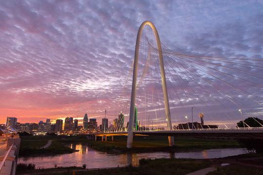 Margaret hunt hill bridge in Dallas Texas