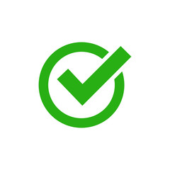 check mark icon vector design symbol