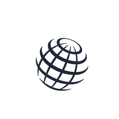 globe logo icon vector