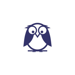 Aluminium Prints Owls cartoon owl logo vector icon