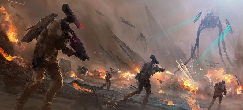 Alien Battle Field