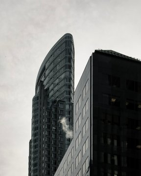 Skyscrapers in downtown Toronto on an overcast day