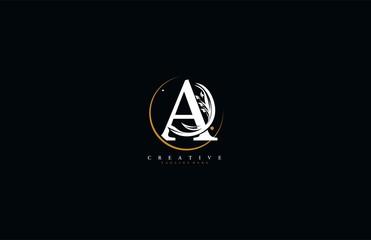 Letter A linked rounded stylish swoosh circle elegant flourishes logotype