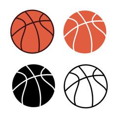 Set of basketball vector illustration.