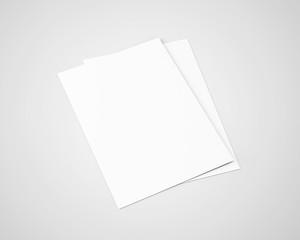 A5 A4 Flyer White Blank Mockup