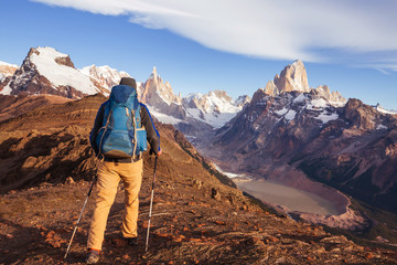Hike in Patagonia Wall mural