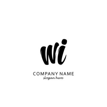 Initial WI black and white logo template