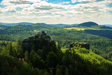 The Marienfels hill in Bohemian Switzerland, Czech