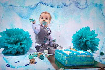 Smash Cake Kinder Fotoshooting