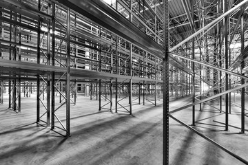 very new built steel high bay warehouse