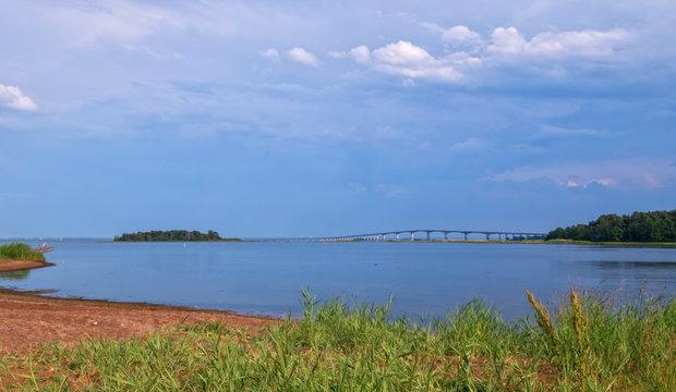 The Oland bridge, Olandsbron, between Kalmar and the Island Oland, Sweden