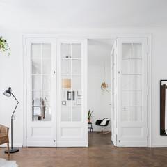 Apartment interior with classic doors