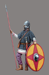 Late Roman soldier. Roman legionary illustration.