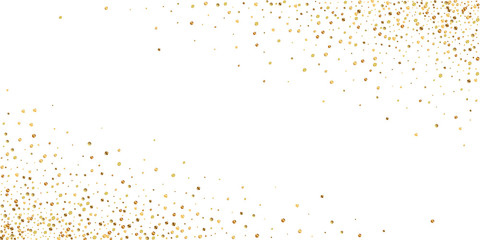 Gold confetti luxury sparkling confetti. Scattered