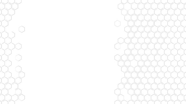 Bright white abstract hexagonal pattern with copy space; mosaic mesh wallpaper 3d rendering, 3d illustration