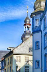 Historische Fassaden in der Monschauer Altstadt