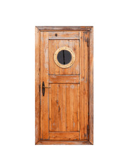 Canvas Prints Ship Wooden door with round porthole