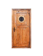 In de dag Schip Wooden door with round porthole
