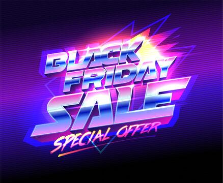 Black friday sale banner design, special offer