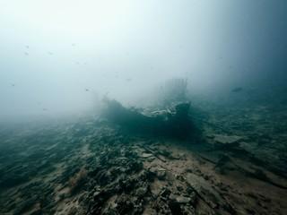 Acrylic Prints Shipwreck Ship wreck exterior in the ocean