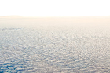 Sea cloud Beautiful photo picture view of the clouds from the airplane in the sky